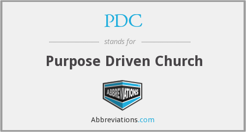 PDC - Purpose Driven Church