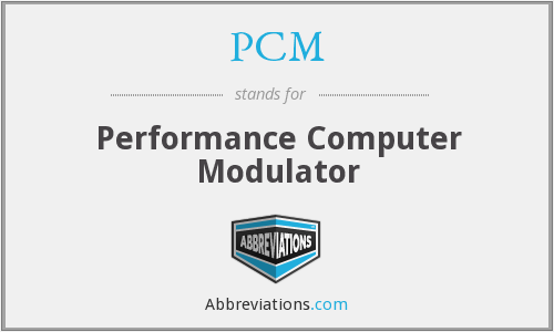 PCM - Performance Computer Modulator
