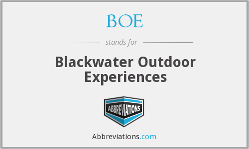 BOE - Blackwater Outdoor Experiences