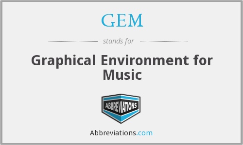 GEM - Graphical Environment for Music