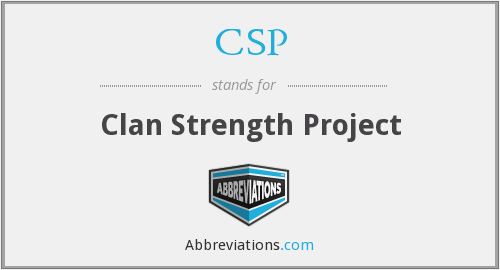 CSP - Clan Strength Project