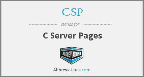 CSP - C Server Pages