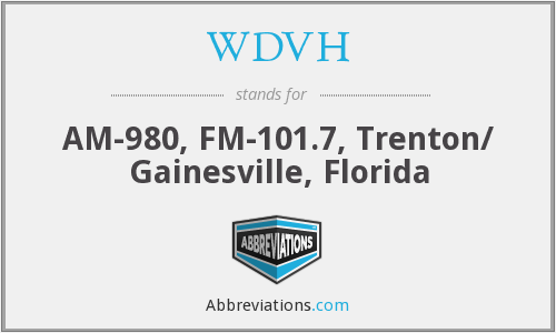 What does WDVH stand for?