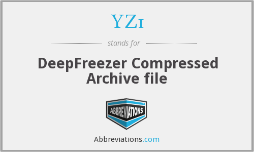 YZ1 - DeepFreezer Compressed Archive file