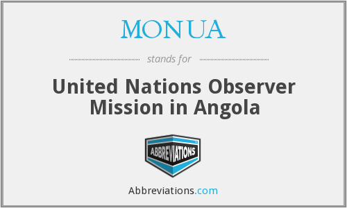 MONUA - United Nations Observer Mission in Angola