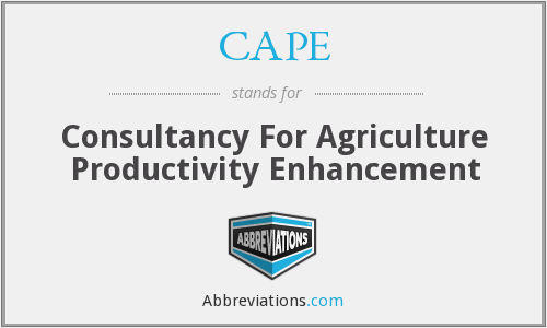 CAPE - Consultancy For Agriculture Productivity Enhancement