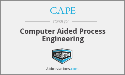 CAPE - Computer Aided Process Engineering