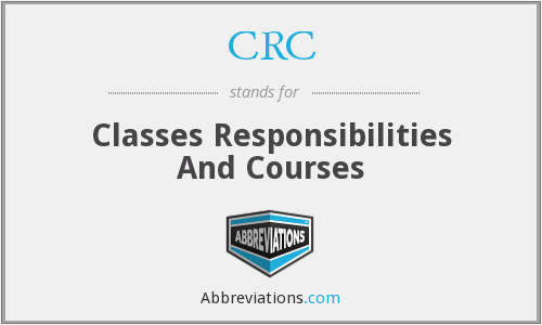 CRC - Classes Responsibilities And Courses