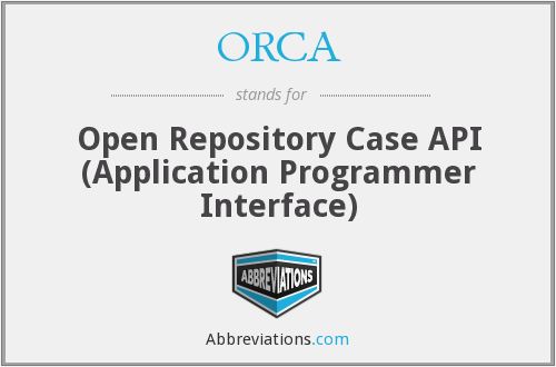 ORCA - Open Repository Case API (Application Programmer Interface)