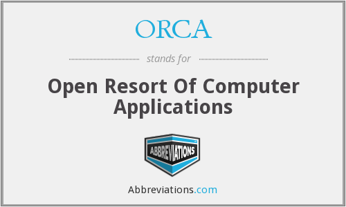 ORCA - Open Resort Of Computer Applications