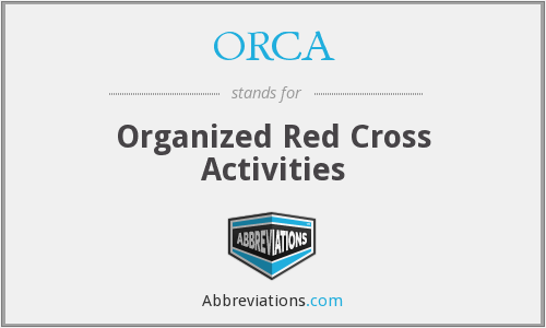 ORCA - Organized Red Cross Activities