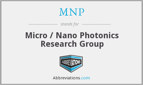 MNP - Micro / Nano Photonics Research Group