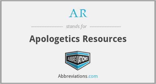 AR - Apologetics Resources