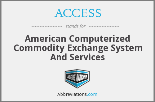 ACCESS - American Computerized Commodity Exchange System And Services