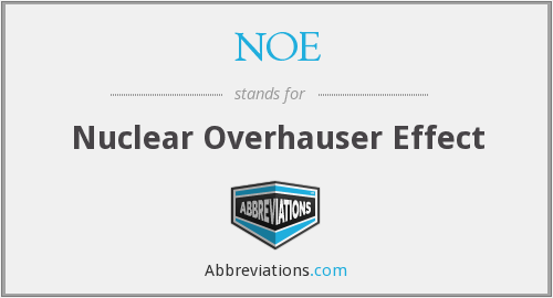 NOE - Nuclear Overhauser Effect