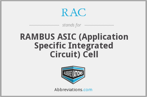 RAC - RAMBUS ASIC (Application Specific Integrated Circuit) Cell