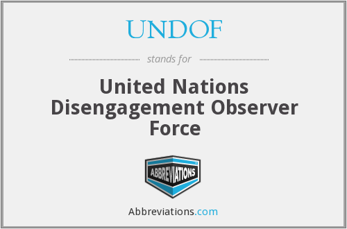 UNDOF - United Nations Disengagement Observer Force