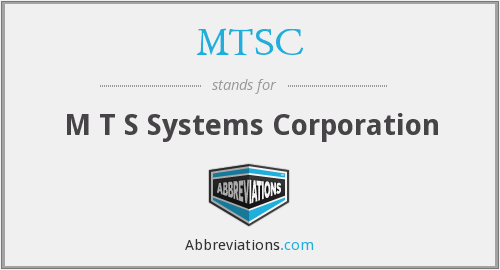 MTSC - M T S Systems Corporation