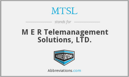 What does MTSL stand for?
