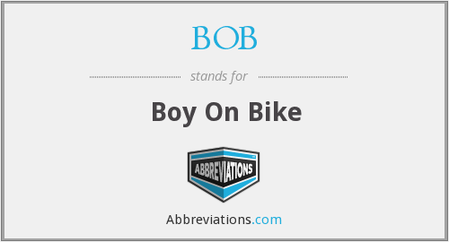BOB - Boy On Bike