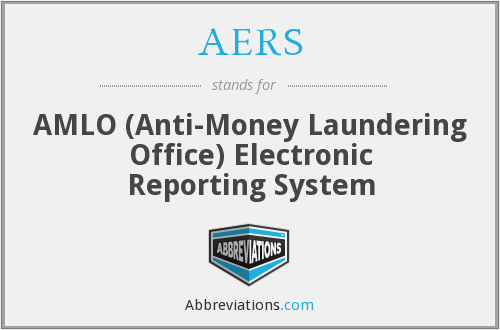 AERS - AMLO (Anti-Money Laundering Office) Electronic Reporting System