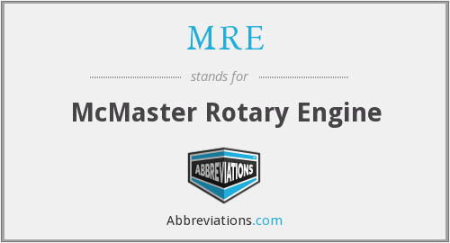 MRE - McMaster Rotary Engine