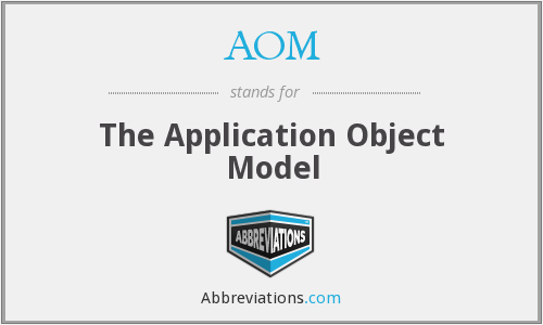 AOM - The Application Object Model
