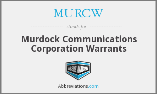 What does MURCW stand for?
