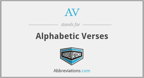 AV - Alphabetic Verses