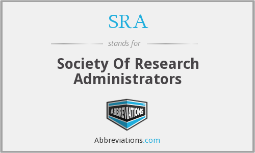 SRA - Society Of Research Administrators