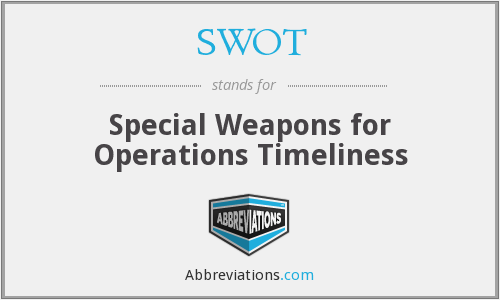 SWOT - Special Weapons for Operations Timeliness