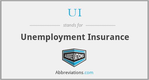 UI - Unemployment Insurance