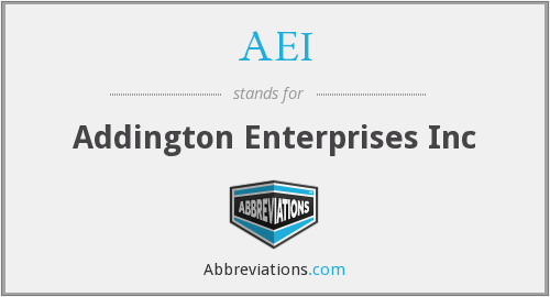 AEI - Addington Enterprises Inc