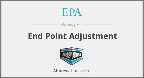 EPA - End Point Adjustment