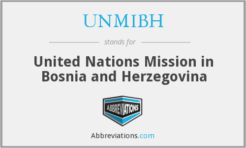 UNMIBH - United Nations Mission in Bosnia and Herzegovina