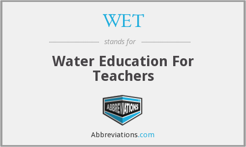 WET - Water Education For Teachers