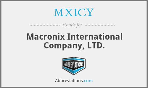 MXICY - Macronix International Company, LTD.