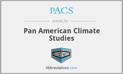 PACS - Pan American Climate Studies
