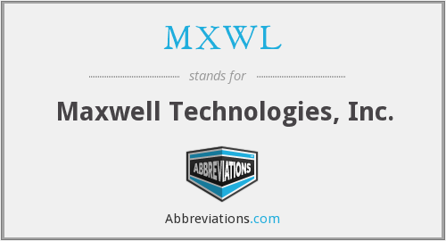 What does Maxwell stand for?