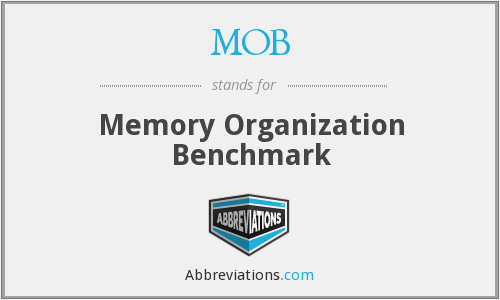 MOB - Memory Organization Benchmark