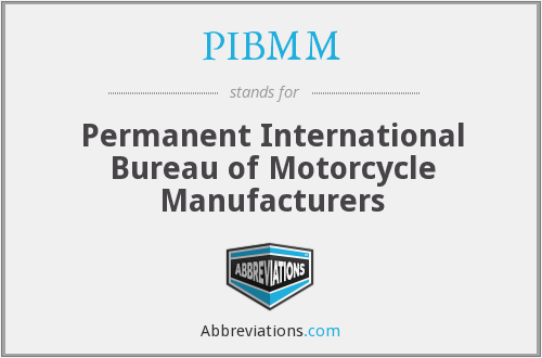 PIBMM - Permanent International Bureau of Motorcycle Manufacturers