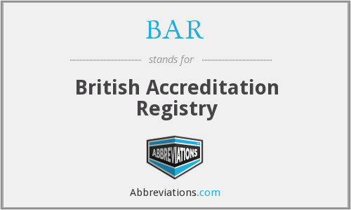 BAR - British Accreditation Registry