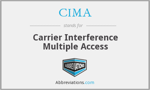 CIMA - Carrier Interference Multiple Access