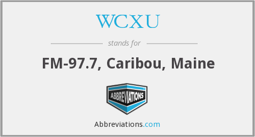 What does WCXU stand for?