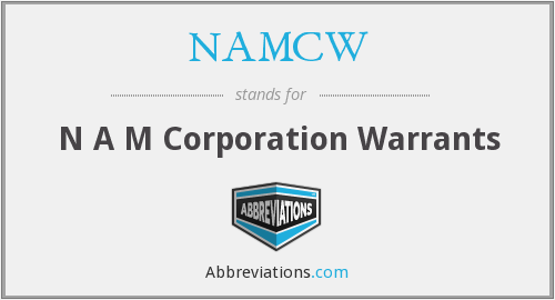 NAMCW - N A M Corporation Warrants