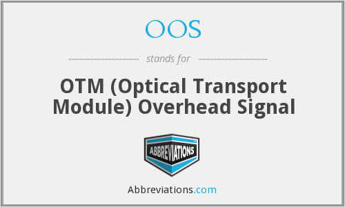 OOS - OTM (Optical Transport Module) Overhead Signal