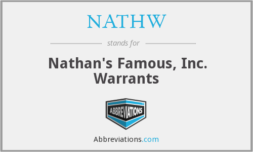 What does NATHW stand for?