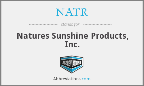 NATR - Natures Sunshine Products, Inc.