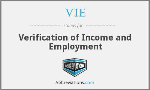 VIE - Verification of Income and Employment
