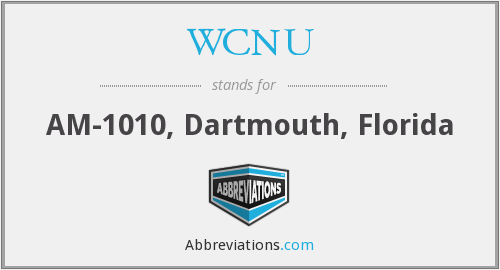 What does WCNU stand for?